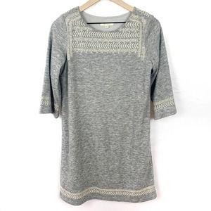 ILLA ILLA Embroidered Knee Length Sweater Dress
